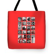 London Squares Tote Bag