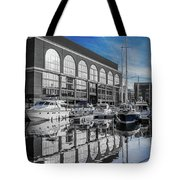 London. St. Katherine Dock. Reflections. Tote Bag