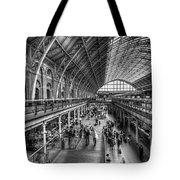 London St Pancras Station Bw Tote Bag