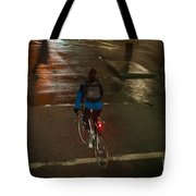 London Streets In Cold Whether . Tote Bag