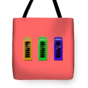 London Telephone Boxes Tote Bag