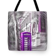 London Telephone Purple Tote Bag