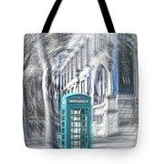 London Telephone Turquoise Tote Bag