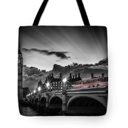 London Westminster Bridge At Sunset Tote Bag