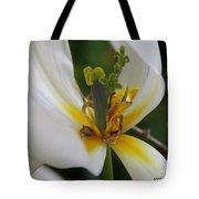London White Tulip Tote Bag