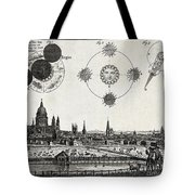 London With Eclipse Diagram, 1748 Tote Bag