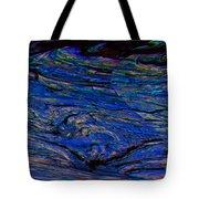 Lone Bird Over Night Ocean Tote Bag