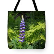 Lone Blue Lupine Tote Bag