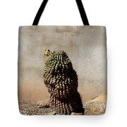 Lone Cactus In Sepia Tone Tote Bag