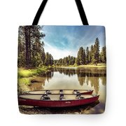 Lone Canoes, Winchester Lake Tote Bag