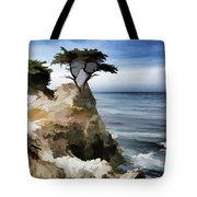 Lone Cypress Tree Pebble Beach  Tote Bag
