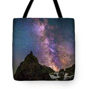 Lone Eagle Peak Dancing In The Milky Way Tote Bag