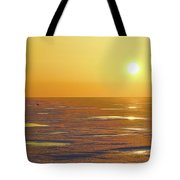 Lone Goose At Sunrise Tote Bag