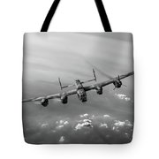 Lone Lancaster Black And White Version Tote Bag