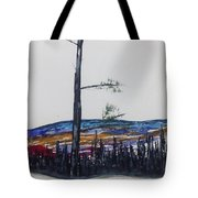 Lone Pine Over The Valley Tote Bag
