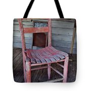 Lone Red Chair Tote Bag