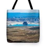 Lone Rock In Lake Powell Utah Tote Bag