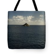Lone Rock Island In The Middle Of Vast Tote Bag