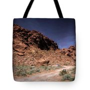 Lone Rock Road Overton Nevada  Tote Bag