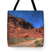 Lone Rock Road Paint  Tote Bag