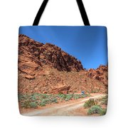 Lone Rock Valley Of Fire  Tote Bag