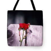 Lone Rose Tote Bag