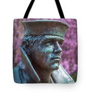 Lone Sailor In Color Tote Bag