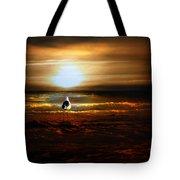 Lone Seagull Tote Bag