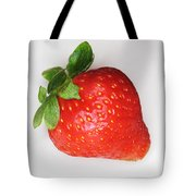 Lone Strawberry Tote Bag