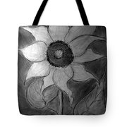 Lone Sunflower Iv Tote Bag