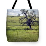 Lone Tree And Cows Tote Bag