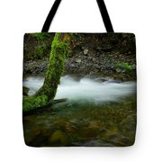 Lone Tree And Running Water Tote Bag