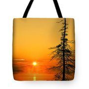Lone Tree At Dawn Tote Bag