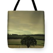 Lone Tree In The Field Tote Bag