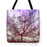 Lone Tree On The Hill Tote Bag
