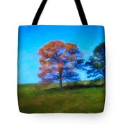 Lone Trees Painting Tote Bag