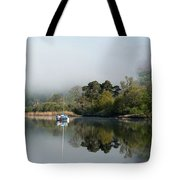 Lone Yacht Tote Bag