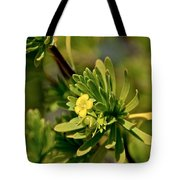 Lone Yellow Bloom Tote Bag