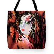 Lonely Angel Of God Tote Bag