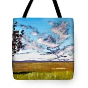 Lonely Autumn Tree Tote Bag