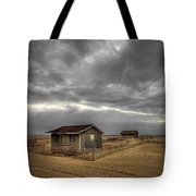Lonely Beach Shacks Tote Bag