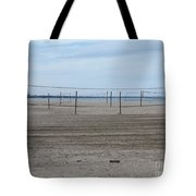 Lonely Beach Volleyball Tote Bag