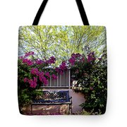 Lonely Bench In The Evening Sun Tote Bag