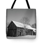 Lonely Grey Barn Tote Bag