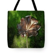 Lonely Leaf On Moss Tote Bag