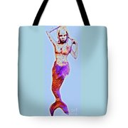 Lonely Little Mermaid Blue Tote Bag