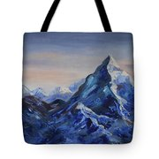 Lonely Mountain Cliff Tote Bag