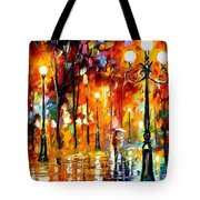 Lonely Night 3 - Palette Knife Oil Painting On Canvas By Leonid Afremov Tote Bag