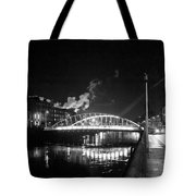 Lonely Night Bw Tote Bag