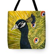 Lonely Peacock Tote Bag